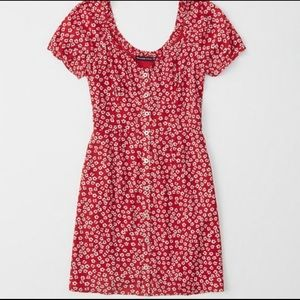 Abercrombie Red & White XL Dress